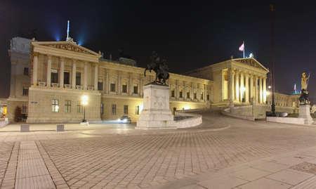 Austrian Parliament in Vienna at night  - Austria Stock Photo - 16465900