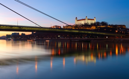 Bratislava castle at the twilght - Slovakia Stock Photo - 12774649
