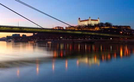 bratislava: Bratislava castle at the twilght - Slovakia