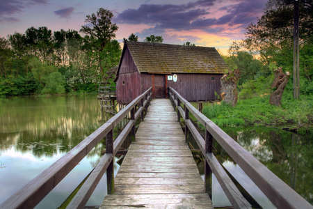 Watermill in the Tomasikovo village - HDR picture photo