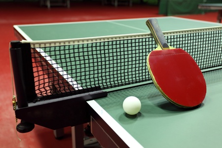tennis racket: Equipment for table tennis - racket, ball, table