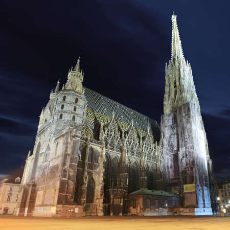 St  Stephan cathedral in Vienna at twilight, Austria photo