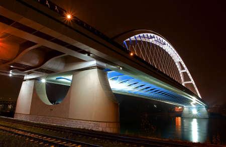 slovakia: Ponte nel centro di Bratislava in Slovacchia Nome notte del ponte � Apollo Archivio Fotografico