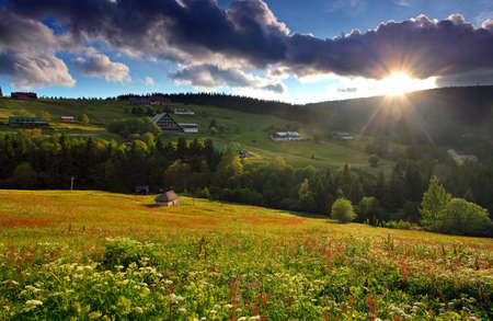 beautiful mountain nature with the sun Stock Photo - 12775979