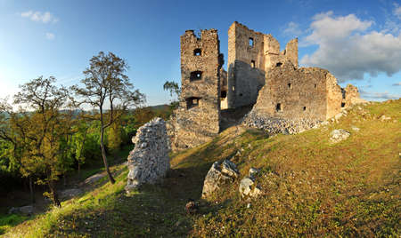 Ruin of Castle Hrusov in the Slovakia photo