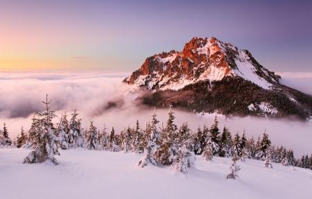 Winter mountain landcape nature Stock Photo - 16078122