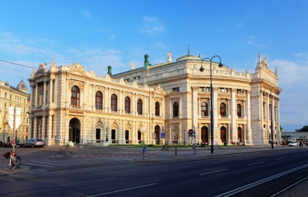Burgtheater is the Austrian National  Theatre in Vienna Stock Photo