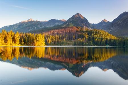 Slovakia Mountain Lake in Tatra - Strbske Pleso Stock Photo - 16078134