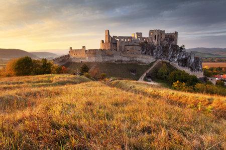 Castle Beckov in Slovakia - ruins Editorial