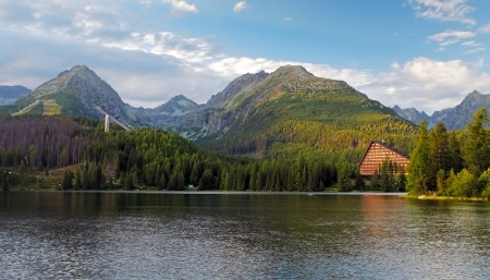Mountain Lake in Slovakia Tatra -  Strbske Pleso Stock Photo - 16466048