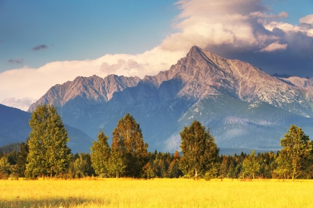 tatry: Symbol of Slovakia - Mount Krivan Stock Photo