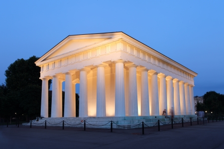 The temple of Theseus at Viennas Garden Stock Photo - 16078268