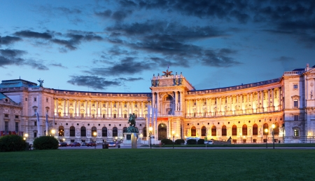 imperial: Vienna Hofburg Imperial Palace at night - Austria
