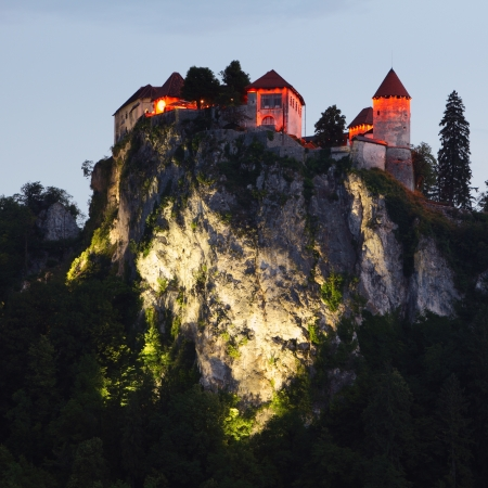hill of the king: Medieval castle of Bled,  Slovenia