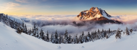 Mountain peak at winter - Roszutec - Slovakia mountain Fatra photo