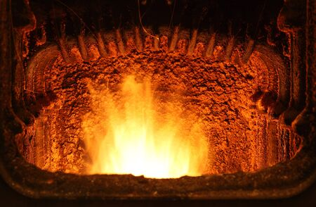 Fire in furnace Stock Photo - 16218080