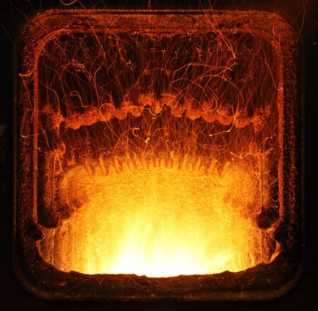 Fire in furnace  Stock Photo - 16218079