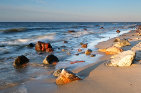 sea scenery: Coast in baltic
