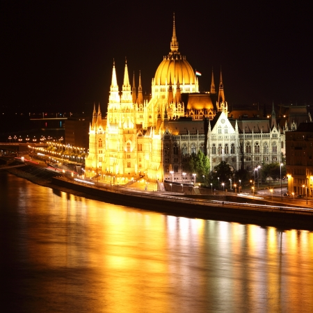 Budapest - Hungarian parliament from castle photo