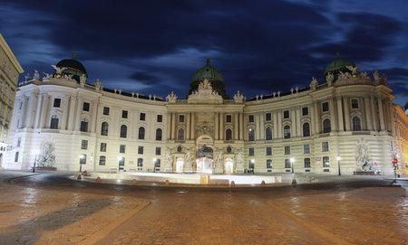 burg: Imperial Palace Hofburg at twilight -  Vienna, Austria Editorial