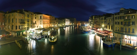 venice bridge: Venice - panoramic view from Rialto bridge Stock Photo