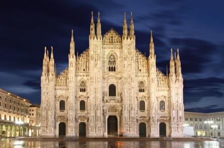 milánó: A milánói dóm kupolája - Olaszország Stock fotó