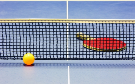 tennis de table: L'�quipement pour le tennis de table - raquette, balle, table, net