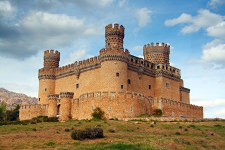 Manzanares el Real Castle  Spain, build in the 15th  century Editorial