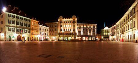 main street: Main Square in Bratislava - Slovakia