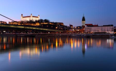 bratislava: Bratislava castle and bridge in Slovakia