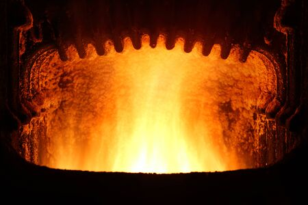 fuel chamber: Fire in furnace