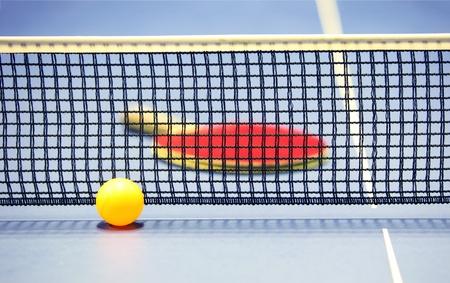 table tennis: Equipment for table tennis - racket, ball, table, net