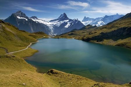 Beautiful lake with swiss mountain reflection  Grindelwald photo