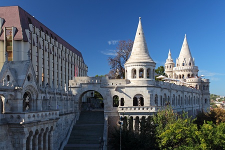 fisherman bastion: Fishermen Bastion in Budapest Hungary