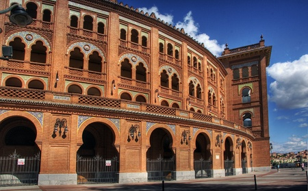 plaza de toros: The Plaza de Toros de Las Ventas - Madrid