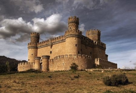 turrets: Manzanares el Real Castle  Spain, build in the 15th  century Editorial