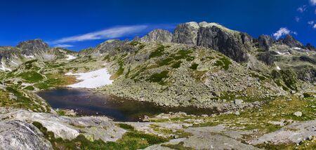 Mountain panorama with lake Stock Photo - 16553123