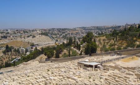 mount of olives: View from the Mount of Olives on Old Jerusalem, Israel