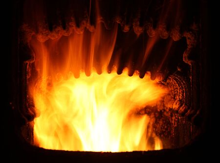 Fire in furnace  Stock Photo - 16552849