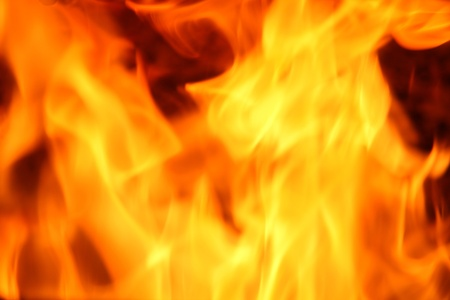 Fire yellow abstract background Stock Photo - 16552911