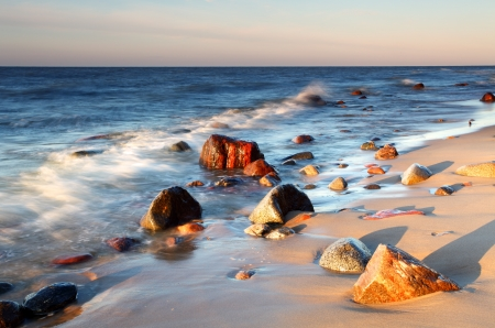 wilderness area: Stones on shore of the Baltic Sea