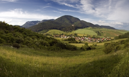 liptov: Idyllic village   Likavka   in Mountains in beautiful region Liptov  Slovakia - Europe