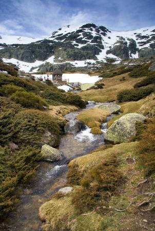 high sierra: Creek in the Sierra de Guadarrama - Near Madrid