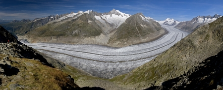 Glaciar Aletsch - Alpes suizos photo