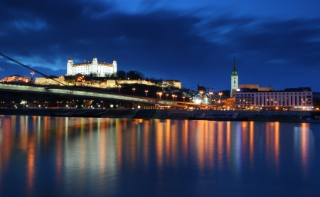 Bratislava at twilght photo