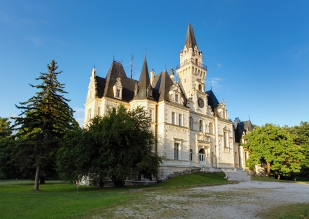 Castle and park in Budmerice Stock Photo - 16704885
