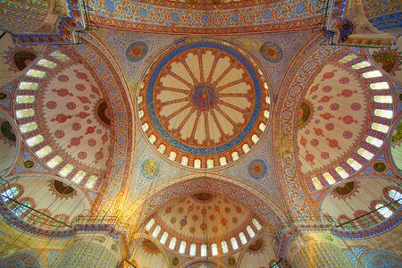 Inside the islamic Blue mosque in Istanbul - Turkey