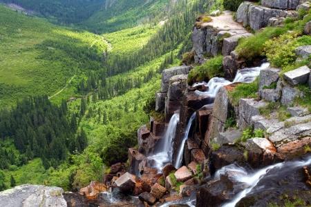 krkonose: Pancavsky waterfall - Krkonose Stock Photo