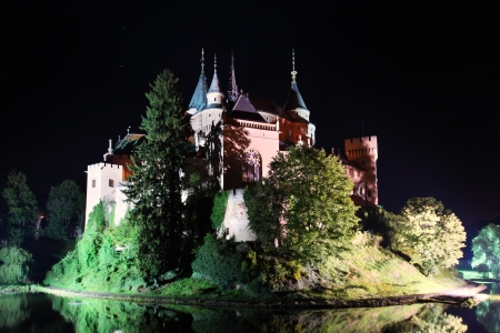 slovakia: Bojnice Castello - Slovacchia di notte