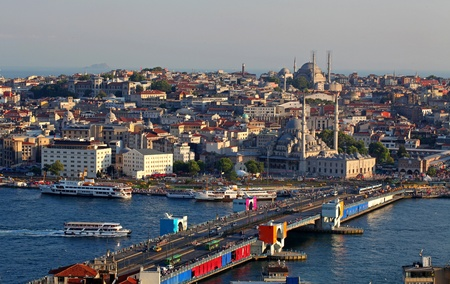 Istanbul Panorama at sunset photo